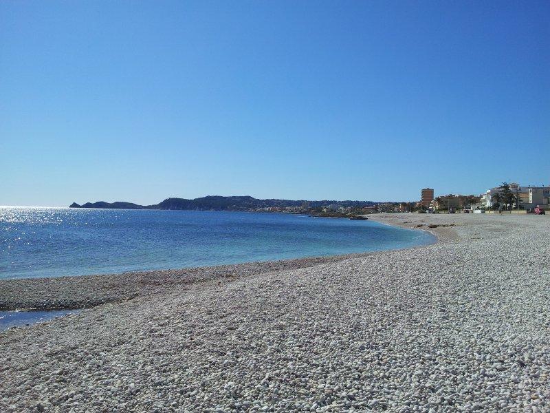 Playa benissero primer montañar Javea